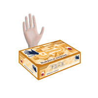 Vinylové rukavice 100 ks bílé M