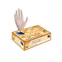 Vinylové rukavice 100 ks bílé L, pudrované