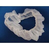 Čelenka jednorázová bílá 10ks, netkaná textilie