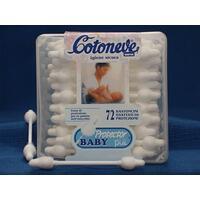 Tyčinky vatové Baby Protector 56ks krabička plast Cotoneve