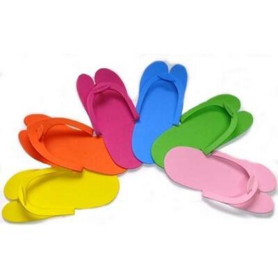 Pantofle-žabky barevné, 1 pár - 1