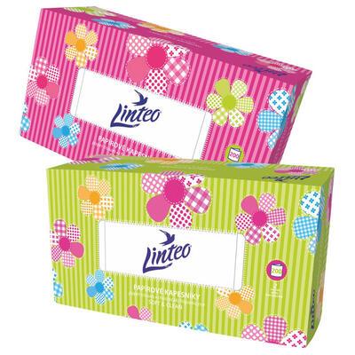 Papírové kapesníky Linteo BOX 200ks, bílé, 2-vrstvé