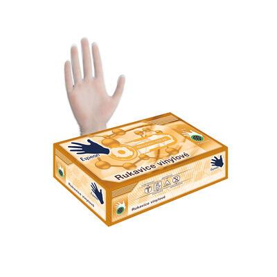 Vinylové rukavice 100 ks bílé M, pudrované