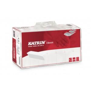 Ručníky papírové skládané bílé 21 bal.po 150ks, Katrin ZZ