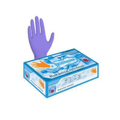 Nitrilové rukavice 100 ks (nepudrované, fialové) S