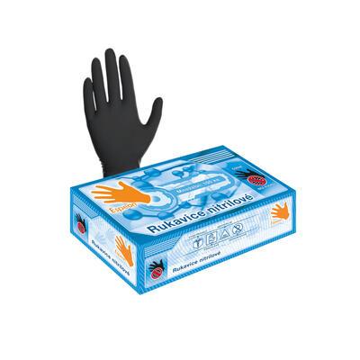 Nitrilové rukavice 100 ks (nepudrované, černé) M - 1