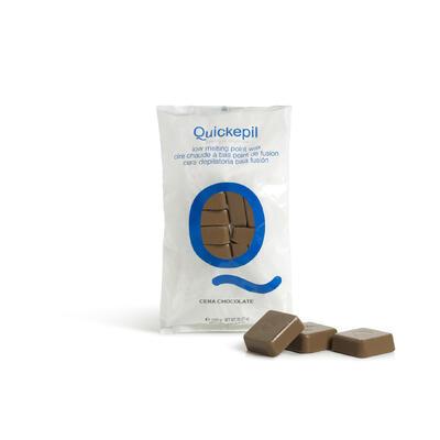 QUICKEPIL Tvrdý vosk na depilaci čokoláda 1 kg