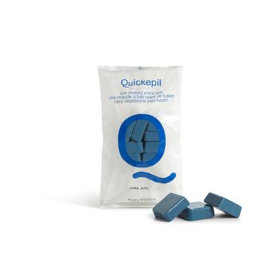 QUICKEPIL Tvrdý vosk na depilaci modrý 1 kg