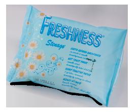 Papír toaletní vlhčený Freshness 20 ks