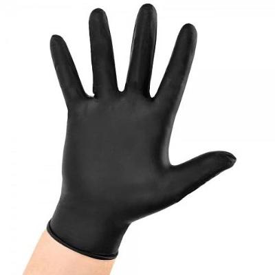 Nitrilové rukavice 100 ks (nepudrované, černé) M - 2