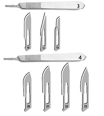 Čepelky skalpelové karbon Surgeon č:20/100 ks - 2