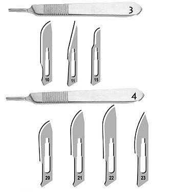 Držák skalpelových čepelek - 2